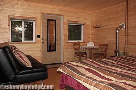 Eshamy Bay Lodge Bottom Unit with King bed and luxury futon