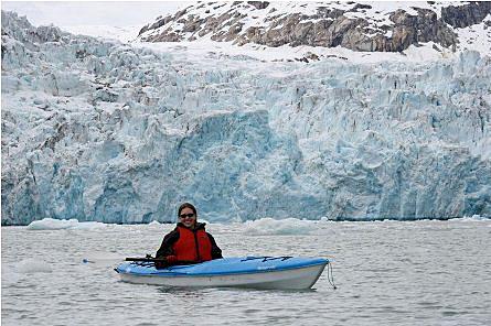 Kayaking near Port Nellie Juan Glacier